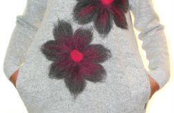 Sukienka filcowana kwiaty