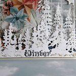 Kartka zimowa - Choinki