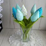Tulipany materiałowe, z bawełny, Dzień Matki -