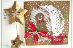 Kartka świąteczna z piernikowym ludkiem 1