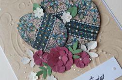Pisanki perłą malowane