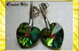 KOLCZYKI SWAROVSKI HEART VITRAIL MEDIUM 14mm