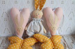 Girlanda z króliczkiem i sercami dekoracja