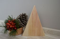 Drewniana choinka naturalna