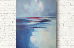 Morze w błękitach -obraz akrylowy