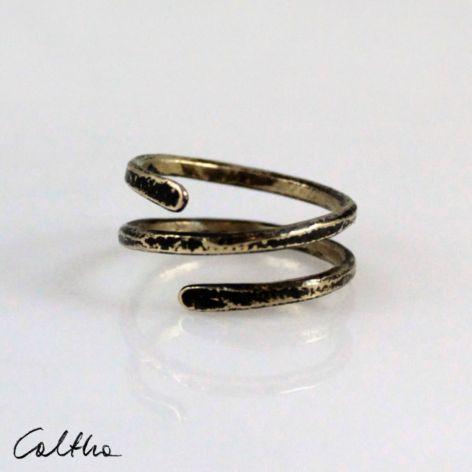 Zawijas - mosiężny pierścionek 210305-02