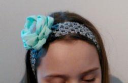 Opaska do włosów z kwiatem kanzas.