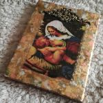 Ikona z wizerunkiem Matki Bożej Karmiącej - Obrazek na ścianę HANDMADE