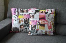 Poszewka dekoracyjna - kolorowe magazyny modowe