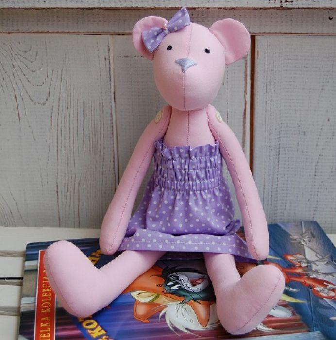 Celinka - miś tilda - zabawka ręcznie robiona