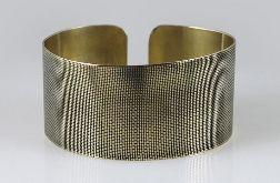 Płótno - mosiężna bransoleta 130523-04