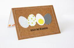 Jajko na twardo kartka wielkanocna