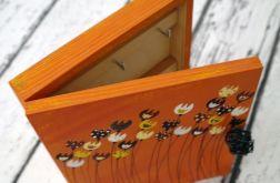 pudełko pomarańczowe na klucze tulipankowe