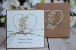 Rustykalna kartka ślubna z pudełkiem 18