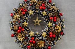 Wieniec świąteczny czerwono-złoty