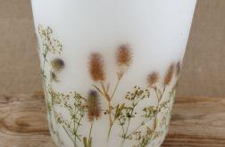 świece FLORA -z naturalnymi roślinami #2