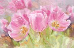 Obraz na płótnie kwiaty tulipany 80 x 50