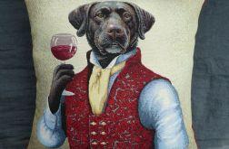 Poduszka gobelinowa Pies Lord