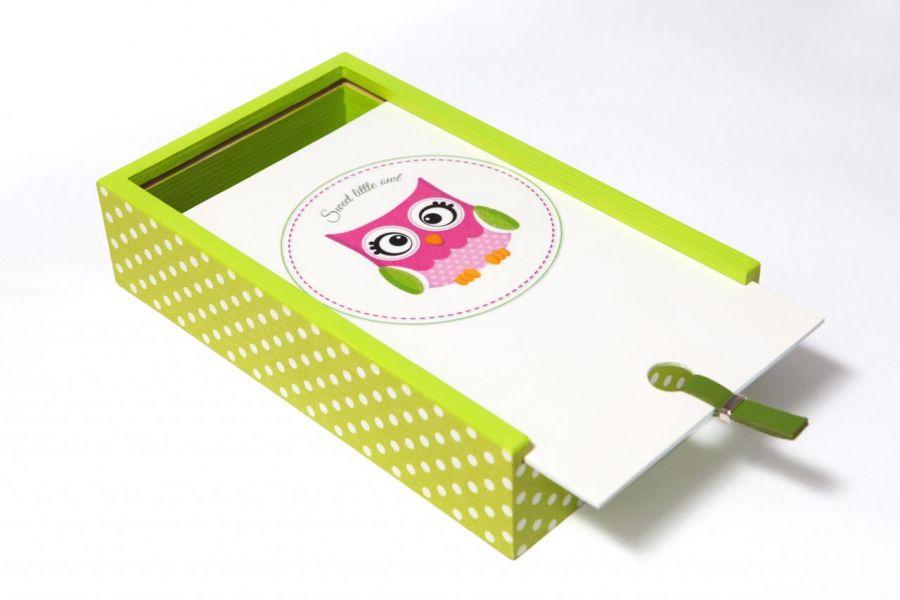 Piórnik 'Sweet owl 2'' - White Blue
