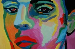 obraz olejny boy in love lgbt tęcza rainbow