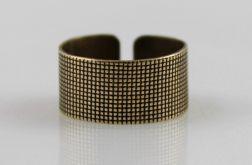 Płótno - mosiężny pierścionek 191007-02