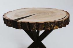 Stolik topolowy z plastra drewna 2