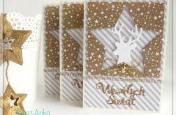 Kartka świąteczna z reniferem, jeleniem 3