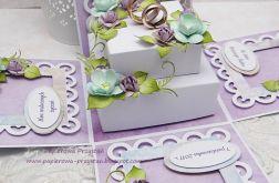 Z obrączkami- pudełko ślubne 2