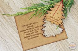 Życzenia świąteczne GWIAZDKA kartka drewniana
