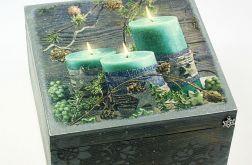 szkatułka drewniana, pudełko-magiczny wieczór