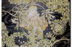 """Woman with daisies"" Alfons Mucha"