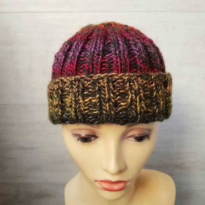 Kolorowa czapka dokerka - czapka dokerka
