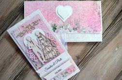 Subtelna kartka na ślub w kopercie 3d
