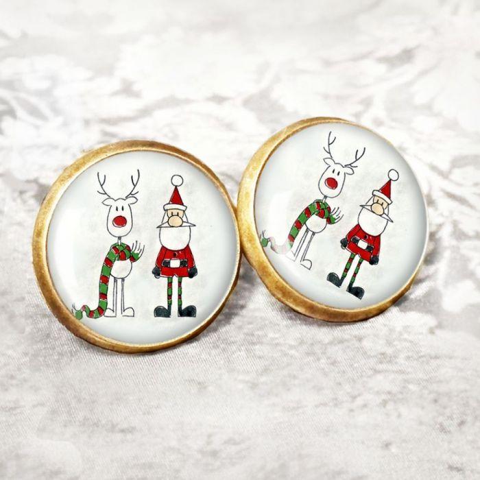 Kolczyki świąteczne na prezent