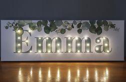 Obraz LED z imieniem, botaniczny, eukaliptus