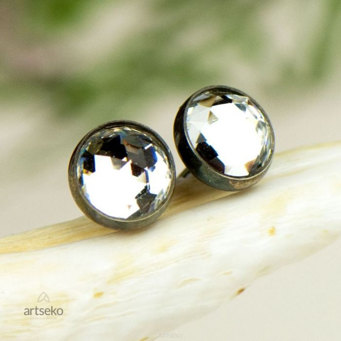 Drobinki- kryształ Swarovskiego B592 - subtelne kolczyki