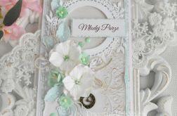 Ślubna kartka DL w pudełku 45