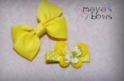 Maya's_Bows Spinki do włosów, kokarda i motylek
