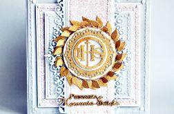 Kartka z okazji KomuniiŚwiętej dziewczynki