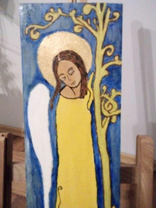 Stojący anioł - widok