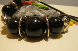 Ogromne kule - czarny naszyjnik