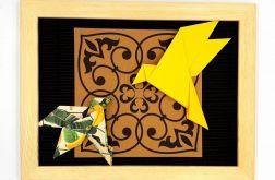 Obrazek origami z papieru na ścianę Ptaki