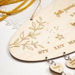 Kalendarz urodzin, kalendarz rodzinny - przypominajka, drewno