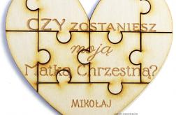 ZAPYTANIE o bycie chrzestnymi CHRZEST puzzle