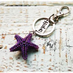 breloczek - fioletowa rozgwiazda