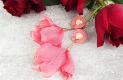 Fiona 5 - kwiatowe kolczyki sutaszowe