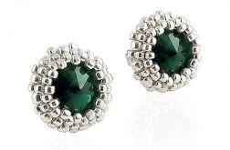 Sztyfty kryształki Swarovski Rivoli - Emerald