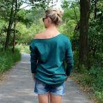 Bluza oversize, asmymetryczna kolory