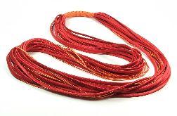 Naszyjnik Długi Atłasowy Czerwony