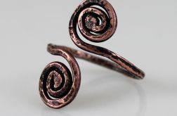 Zawijas - miedziany pierścionek 171219-01
